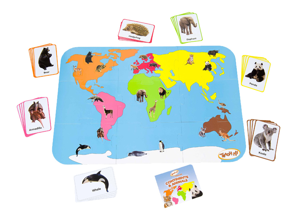 Teach My Toddler Continents Animals Learning Set